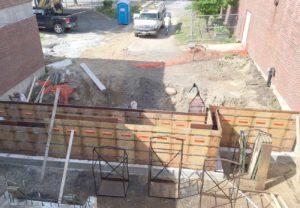 West End News - Reiche Entrance - Construction underway