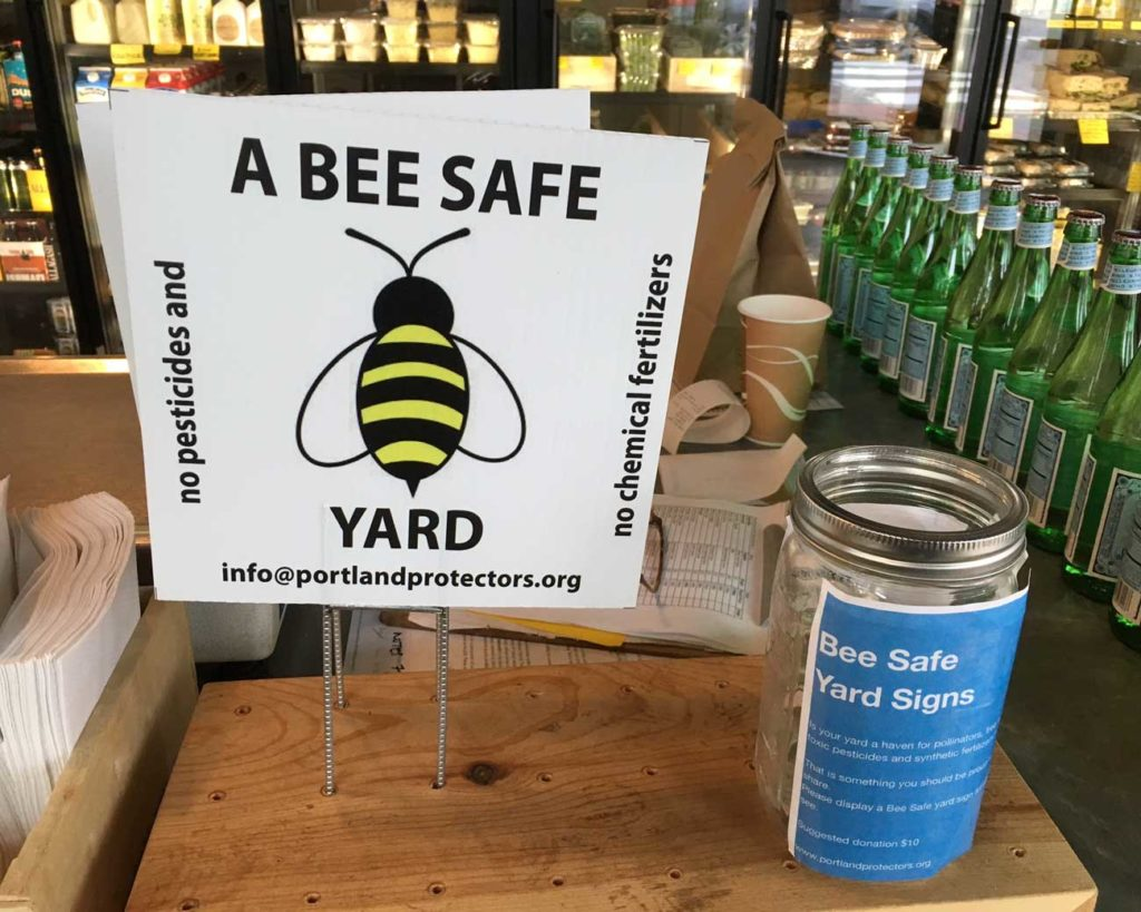 West End News - Portland Protectors - Bee sign pickup at Rosemont
