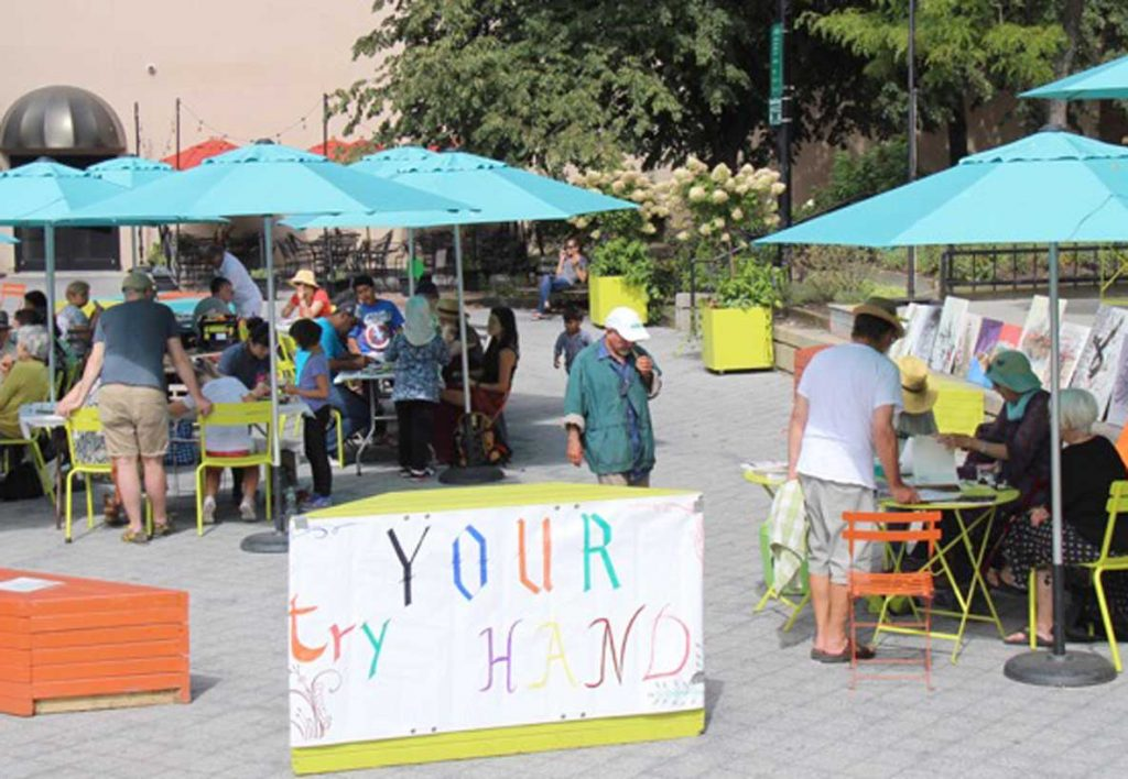 West End News - Calligraphy - Try Your Hand event in Congress Square