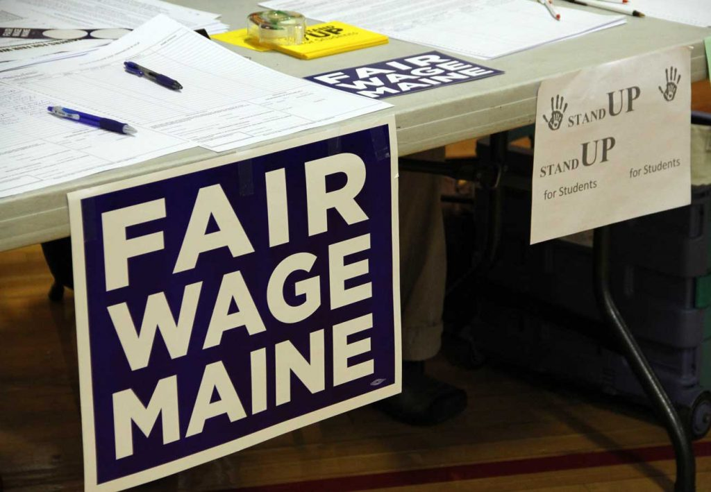 West End News - Referendum Questions - Fair Wage Maine petitioning