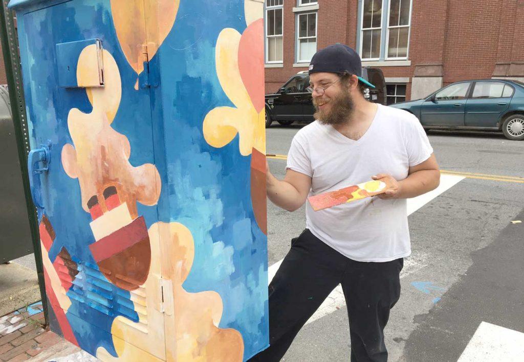 West End News: Enhanced Utility Box - Artist Michael Lewis