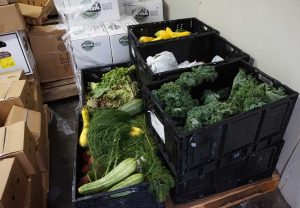 West End News - Rescued food - Rescued veggies in cooler
