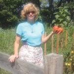 West End News - Mexico Mango - Nancy in her garden