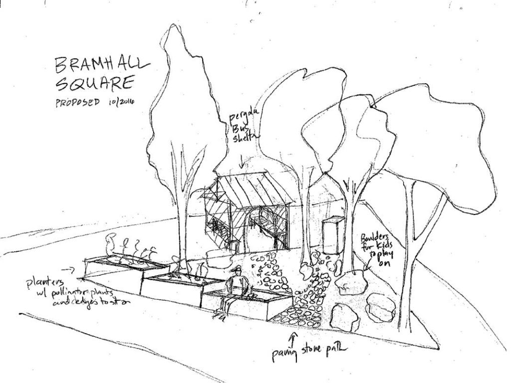 West End News - Development 2017 - Bramhall sketch of possible new look