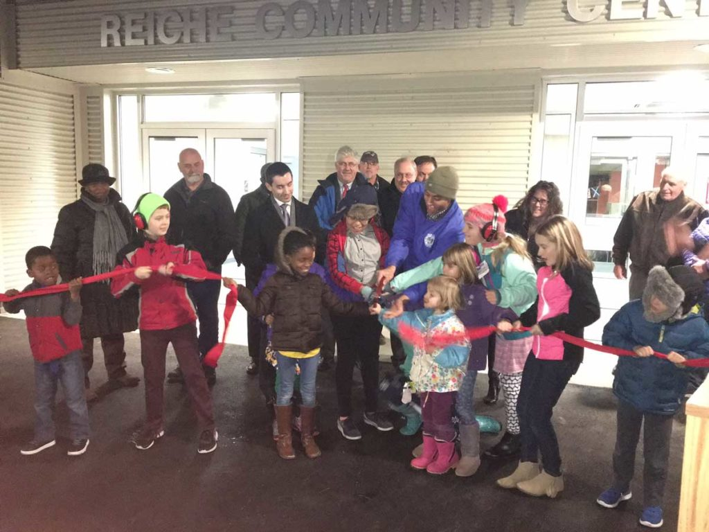West End News - Reiche gets an elevator - ribbon cutting