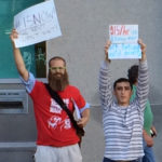 West End News - Millennials fight for a living wage in front of Portland Public Library 2014