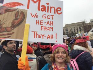 West End News - Maine to DC - Nancy at the Women's March