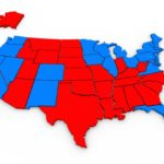 West End News - Planetary Storms and Culture War - Red state blue state map