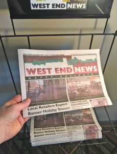 West End News Your Local paper on the rack
