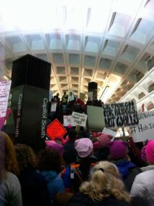 West End News - Maine to DC - Women's March crowded subway