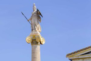 West End News - Wisdom - Statue of Minerva in Athens, Greece