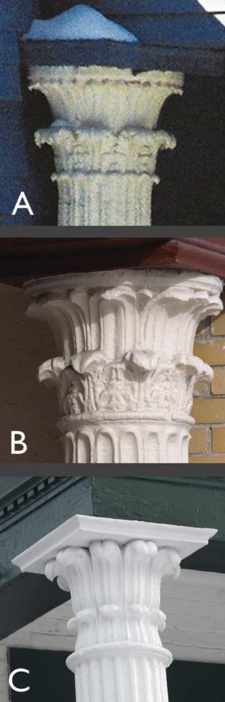 West End News - Architectural Secrets of the Columned Porch - Examples of Tower of the Wind Columns around Portland, ME