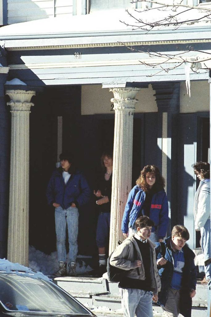 West End News - Architectural Secrets of the Columned Porch - Columns at 291 Cumberland Avenue circa 1980s