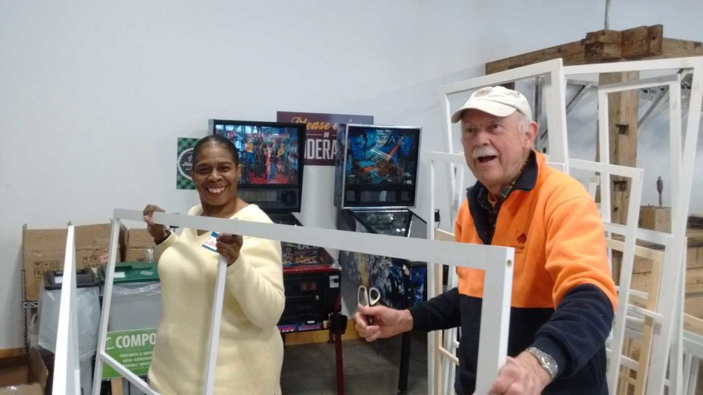 West End News - Window Dressers - WENA Build volunteers at Allagash