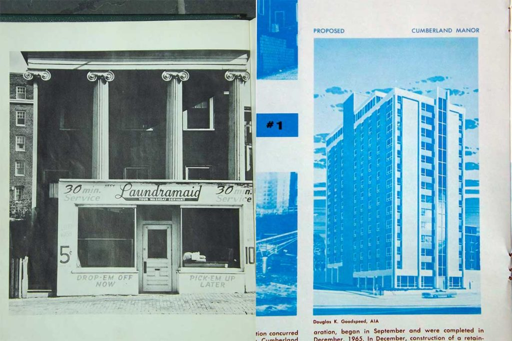 West End News - Bayside Postwar Blues - Before and After from Portland Renewal Authority 1965 report