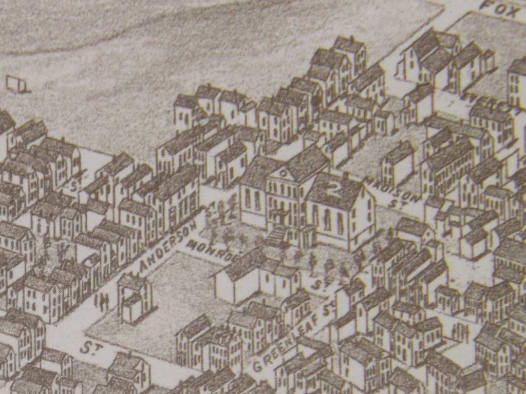 West End News - Bayside Past - illustration of Monroe Street Jail detail