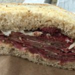 West End News - West End Markets New - Pastrami sandwich from Other Side Deli. -Photo by James Fereira