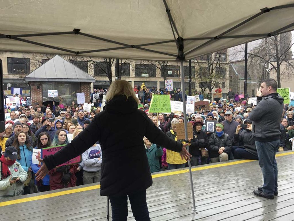West End News - Pesticide Ordinance - Chellie Pingree at Science March