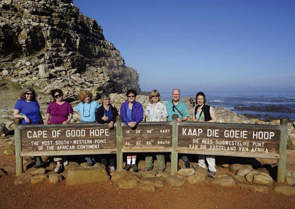 West End News - Bucket Lists - Group shot at Cape of Good Hope, South Africa