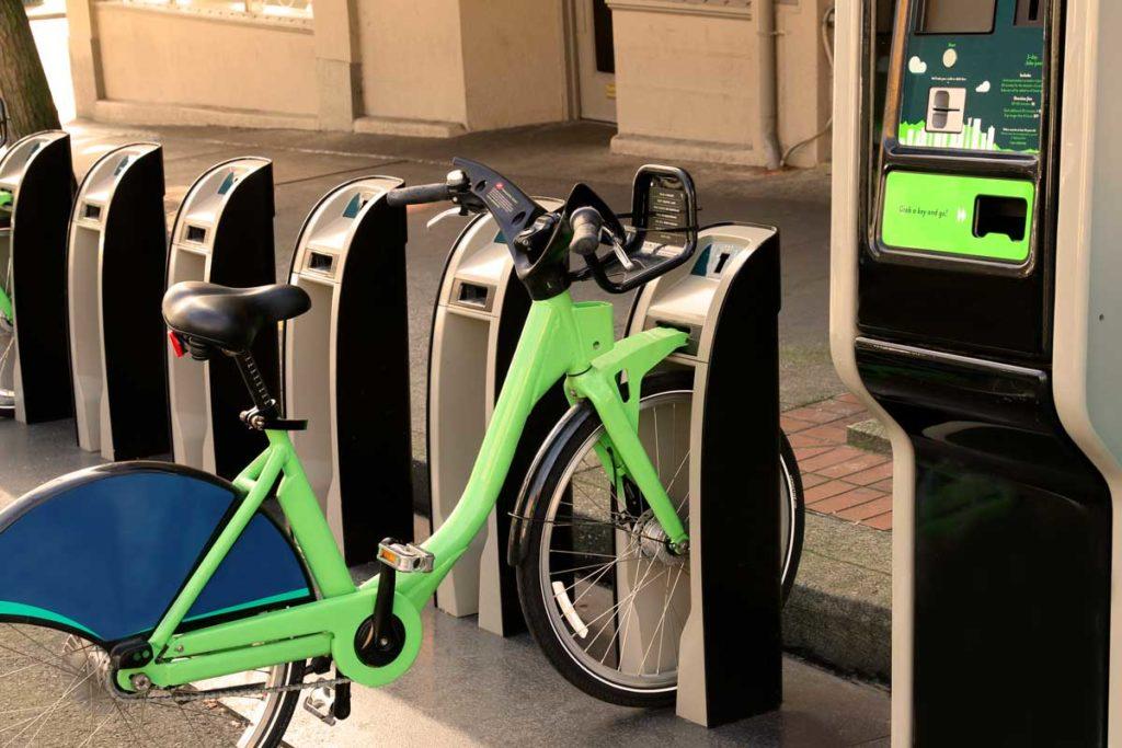 West End News - Portland Bike Share - Example of a bikeshare station