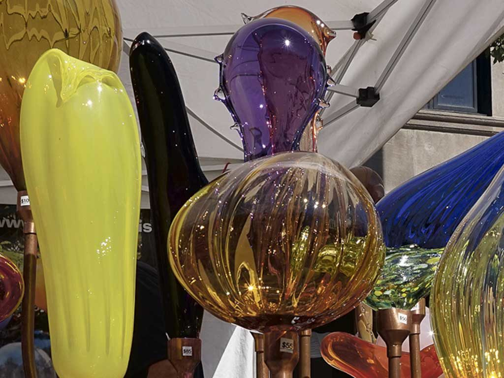 West End News - Portland Fine Craft Show 2017 - Glass by Neal Drobnis