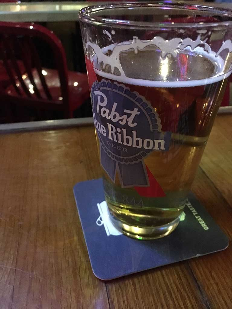 West ENd News - Ruski's Review - PBR pint at Ruski's