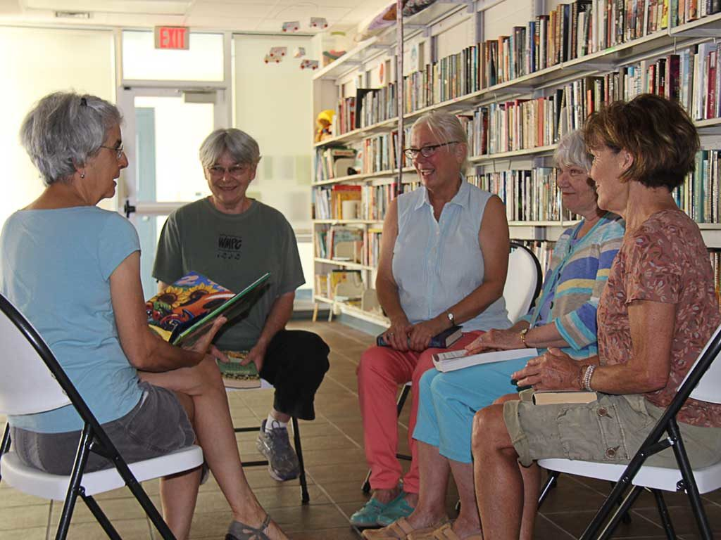 West End News - Reiche Community Room - Book Nook gathering