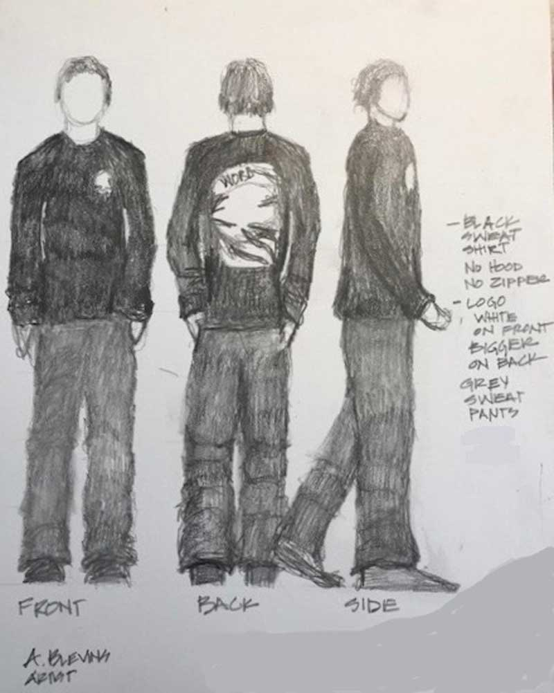 West End News - homicide - sketch of suspect