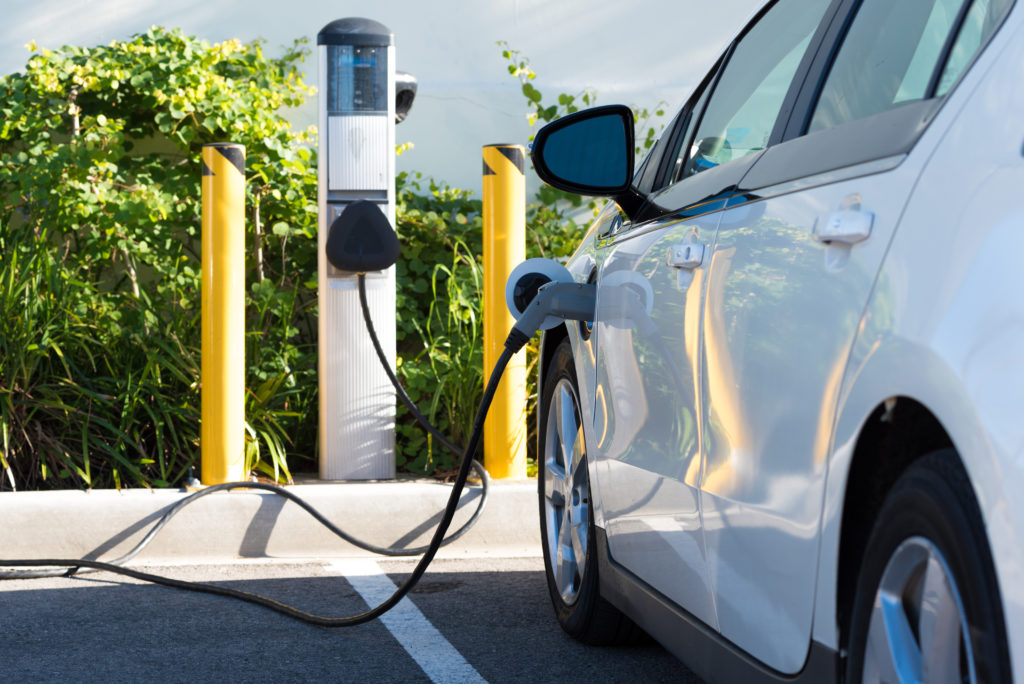 West End News - An electric car charging in California