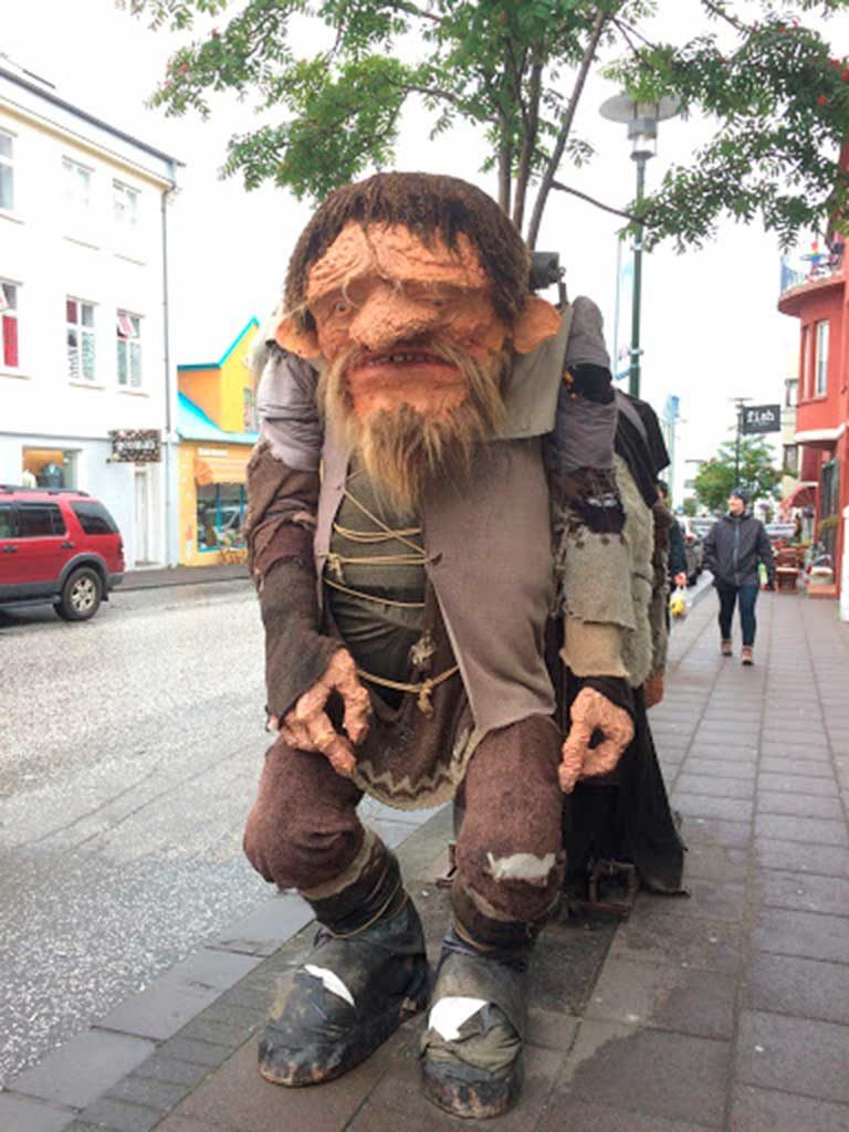 West End News - An Icelandic troll on the streets of Akureyri.
