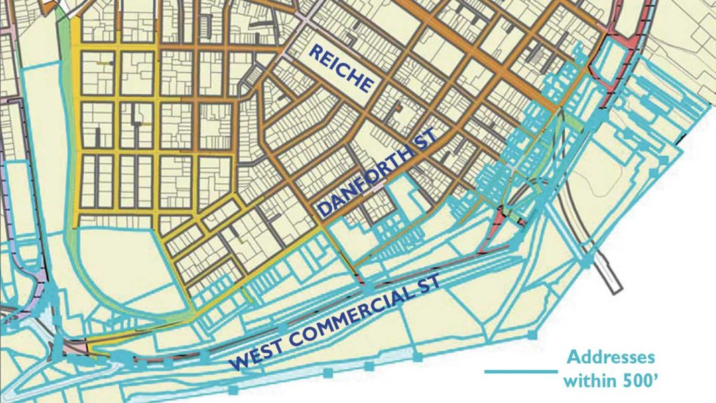West End News - Zoning Americold & Question 2 - Map of addresses within 500'