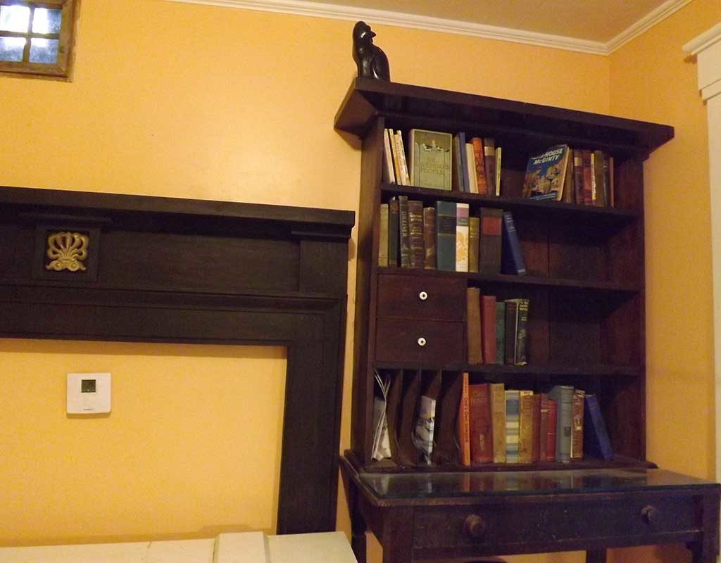 West End News - Architectural salvage desk and bookcase