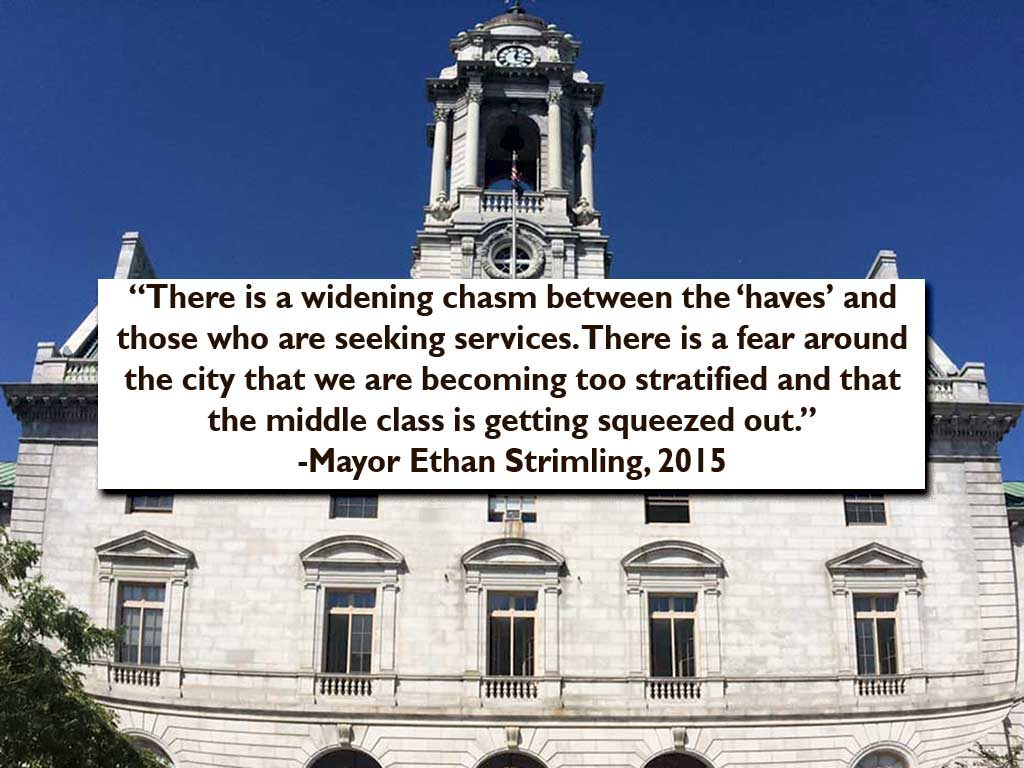 West End News - Leadership - City Hall & Mayor Strimling quote