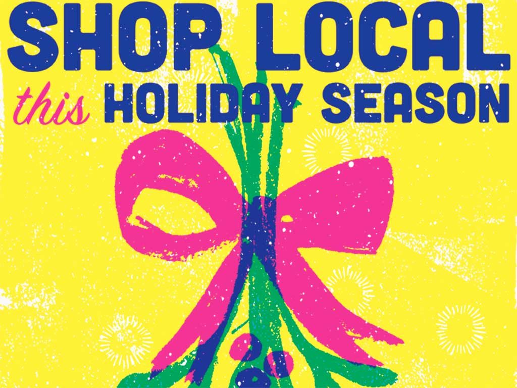 West End News - Shop Local this Holiday Season poster