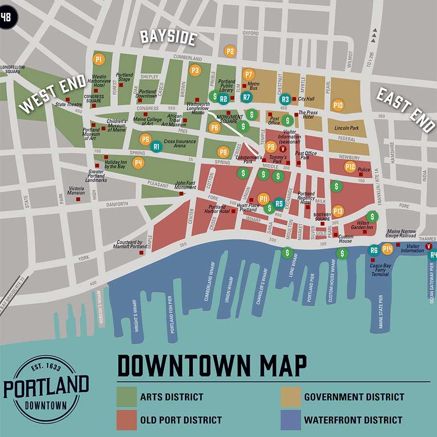 West End News, Portland Downtown Map