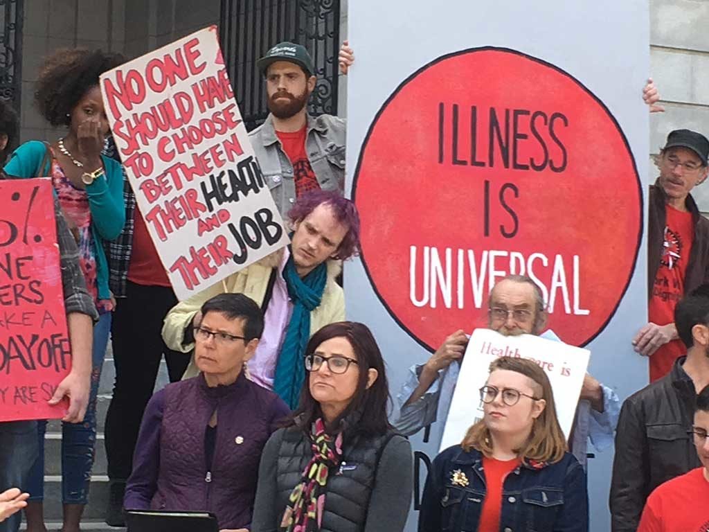 West End News - Paid sick time rally - April 2018