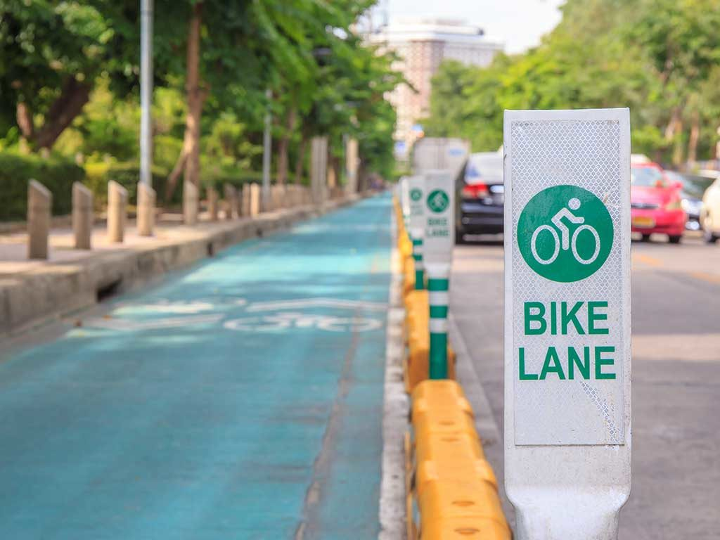 West End News - Separated bike lane