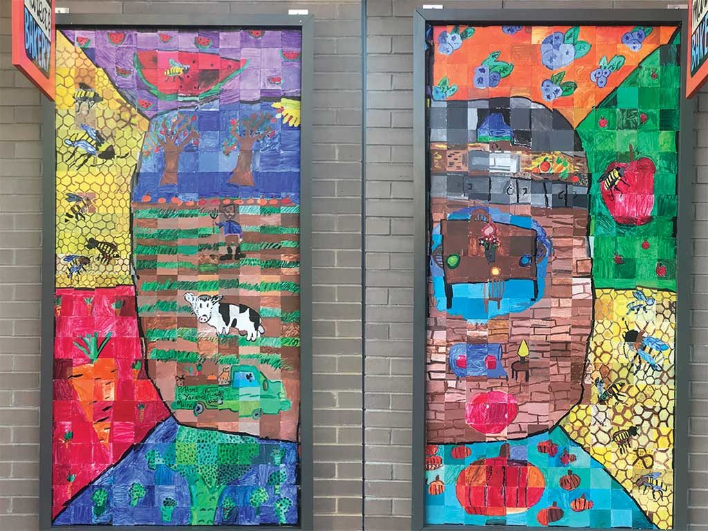 West End News - Reiche student art mural at Rosemont Market West End