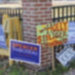 West End News - Temporary sign law - Campaign signs near Reiche, File photo
