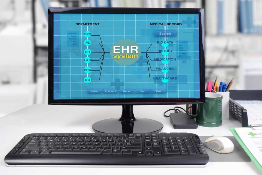 West End News - EHR - EMR / Electronic medical records - stock photo