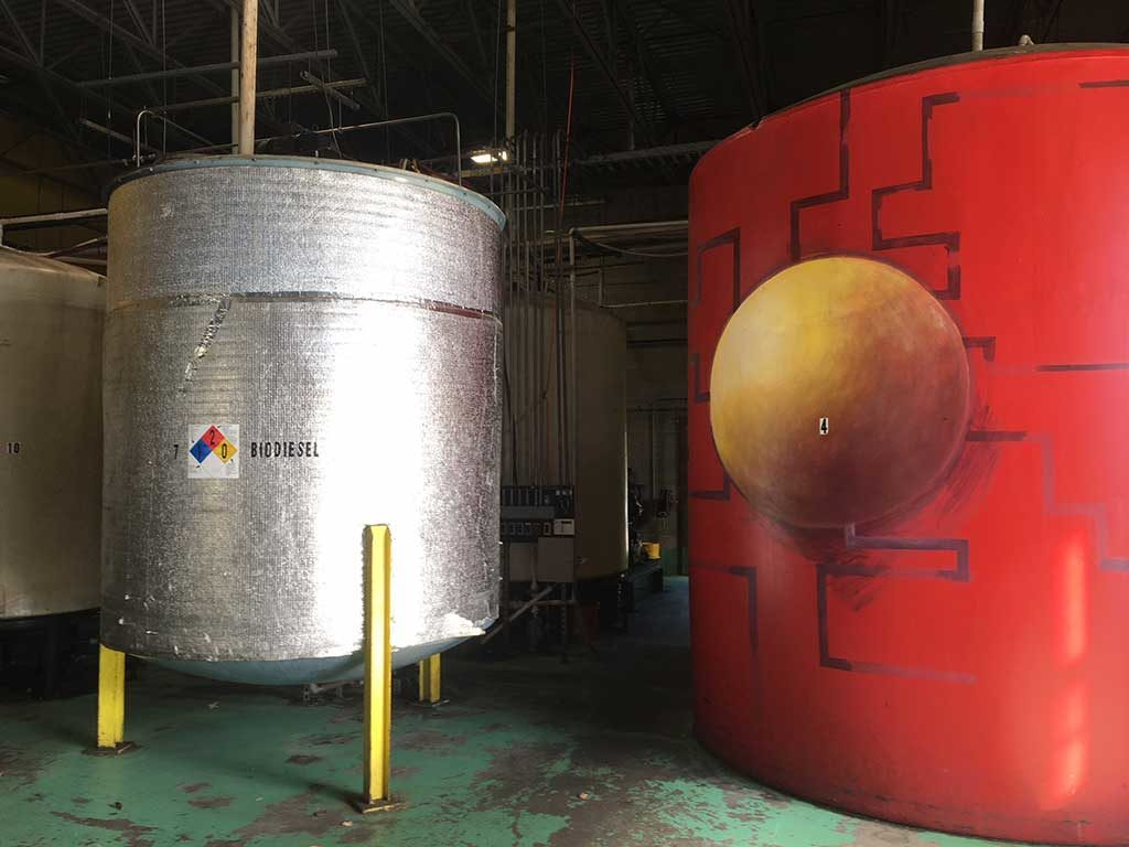 West End News - Maine Standard Biofuel tanks painted by USM