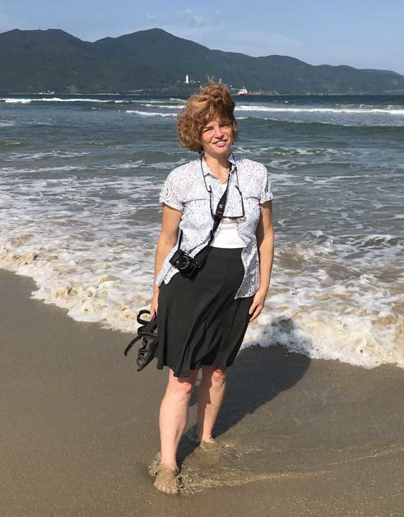West End News - Nancy Dorrans on China Beach