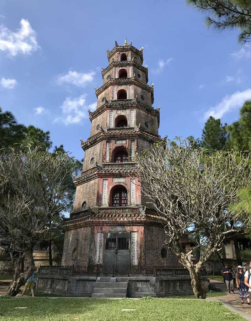 West End News - Thien Mu (Celestial Lady) pagoda in Hue, Vietnam - By Nancy Dorrans