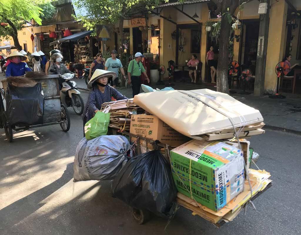 West End News - Vietnam street scene by Nancy Dorrans