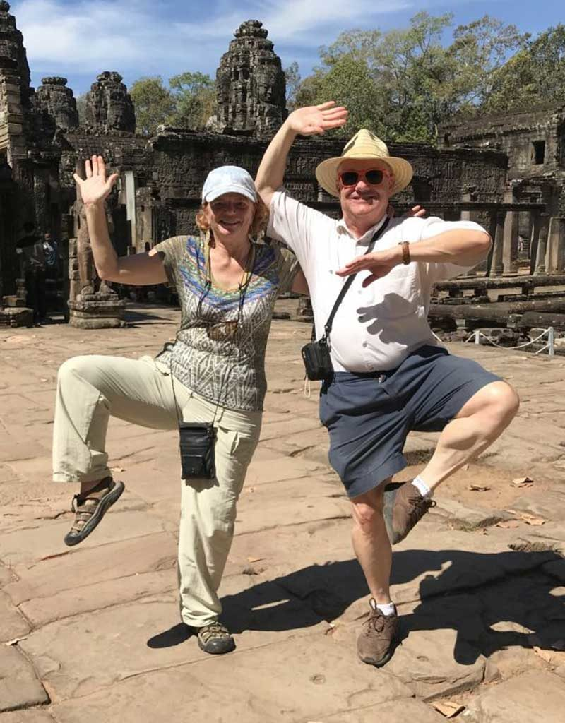 West End News - Nancy Dorrans and Bruce Howell from Duluth at Angor Wat