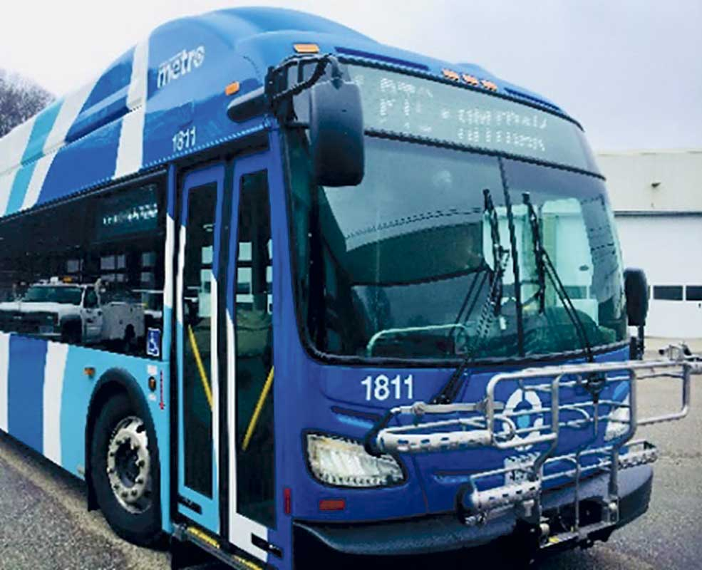 West End News - METRO proposes higher fares - METRO new branding bus photo