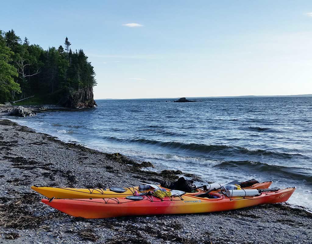 West End News - Summer Fun - kayaks on Jewell Island - Portland Paddle