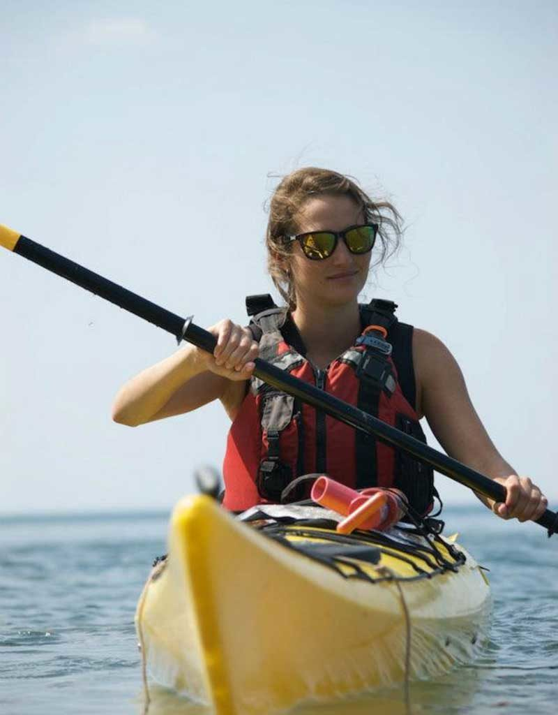 West End News - Summer Fun - Clare in yellow kayak - Portland Paddle