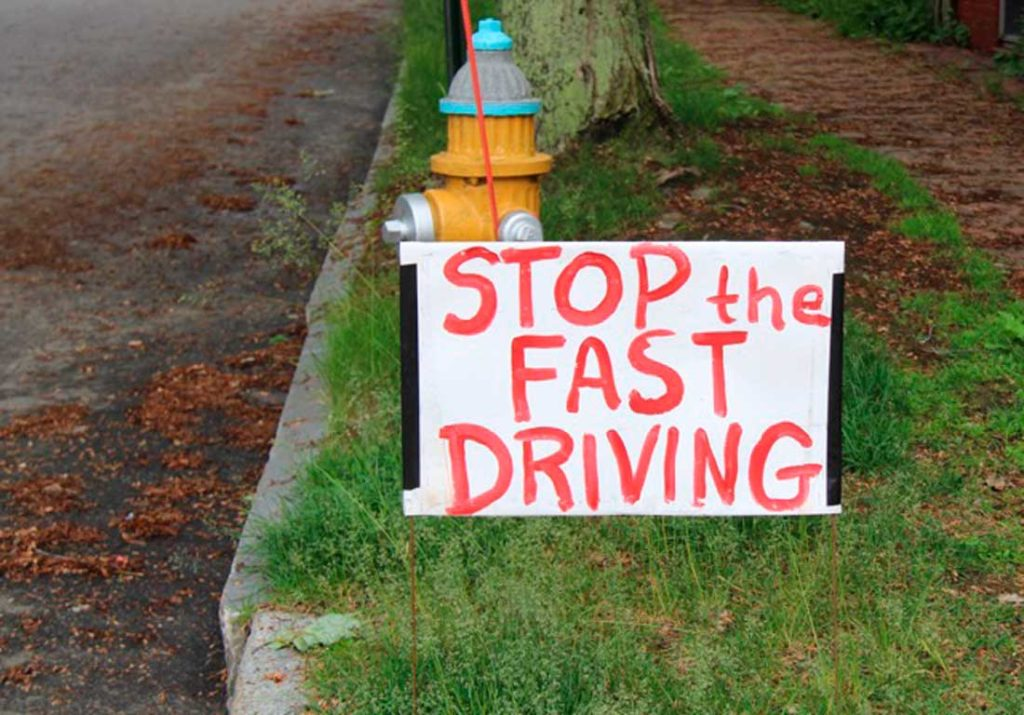 West End News - Stop the Fast Driving sign - Photo By Rosanne Graef