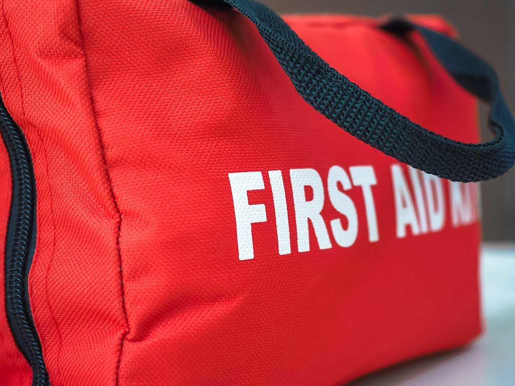 West End News - First Aid Kit red canvas